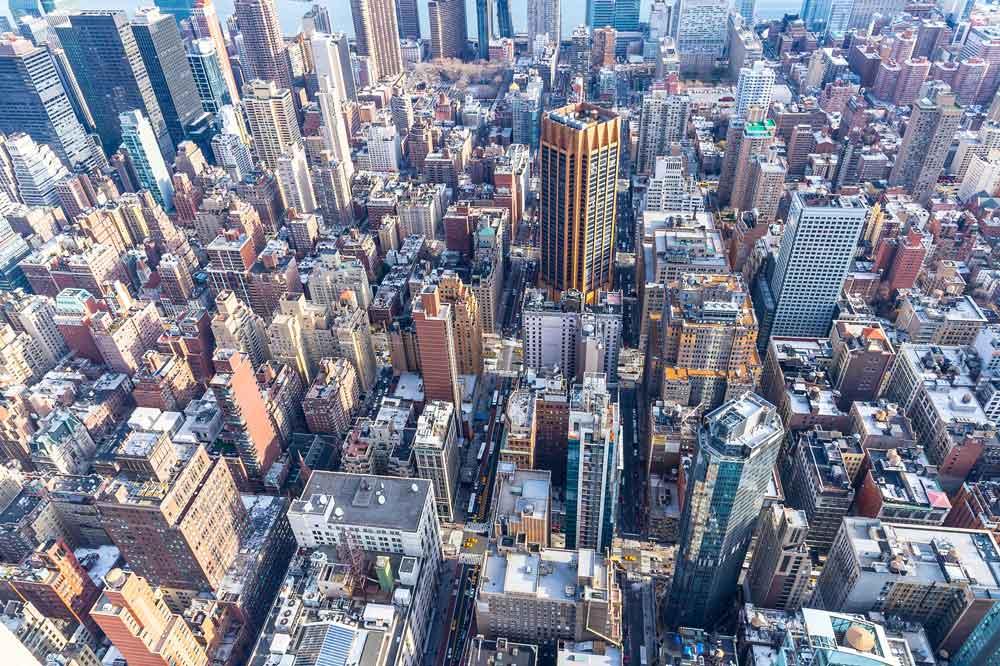 NewYork aus der Vogelperspektive