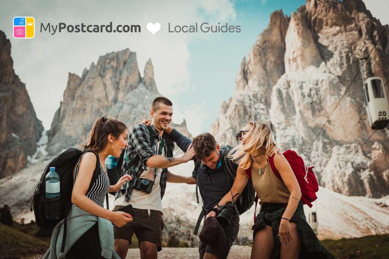 Gruppe junger Menschen in den Bergen