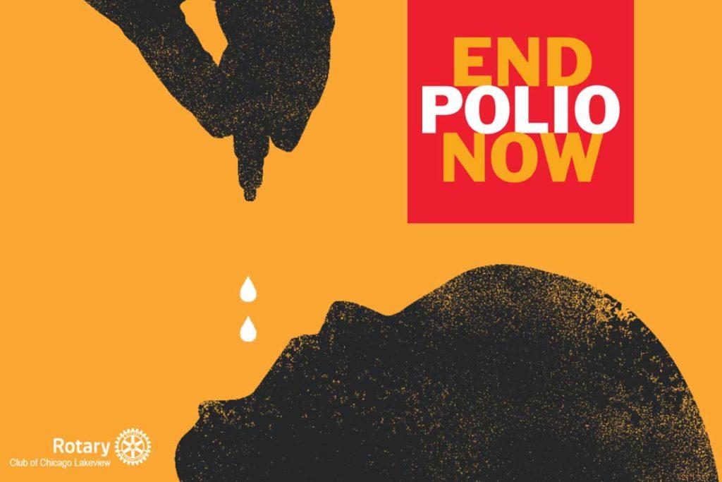 EndPolio Schriftzug und Rotary Logo