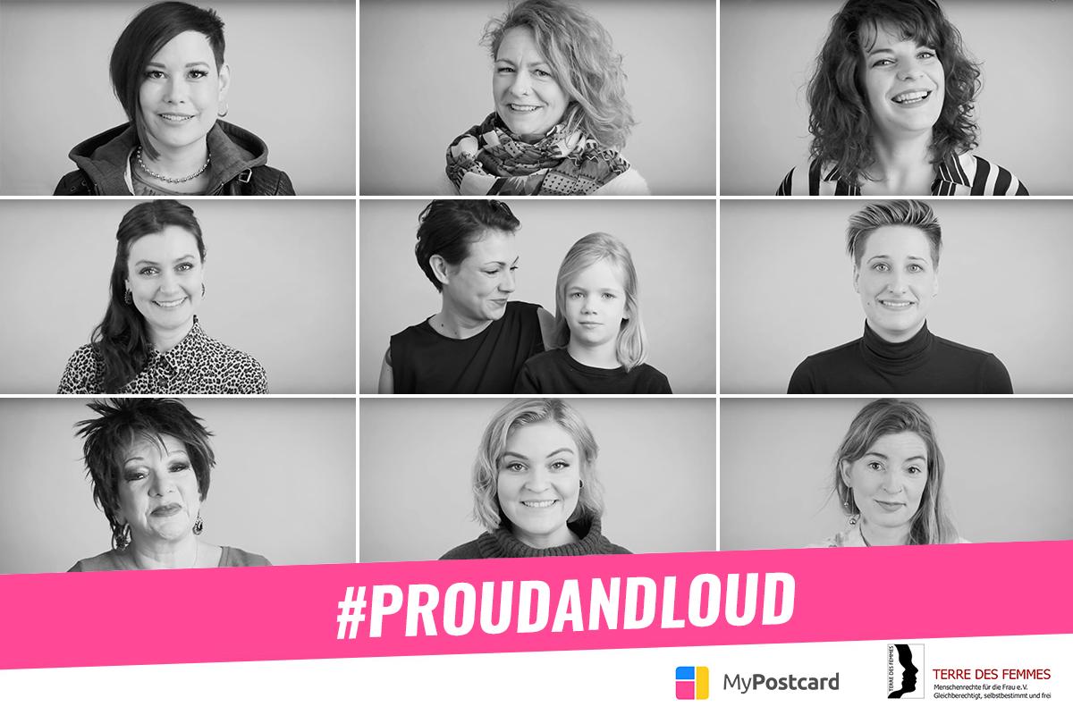 Proudandloud Kampagne Titelbild mit Frauen