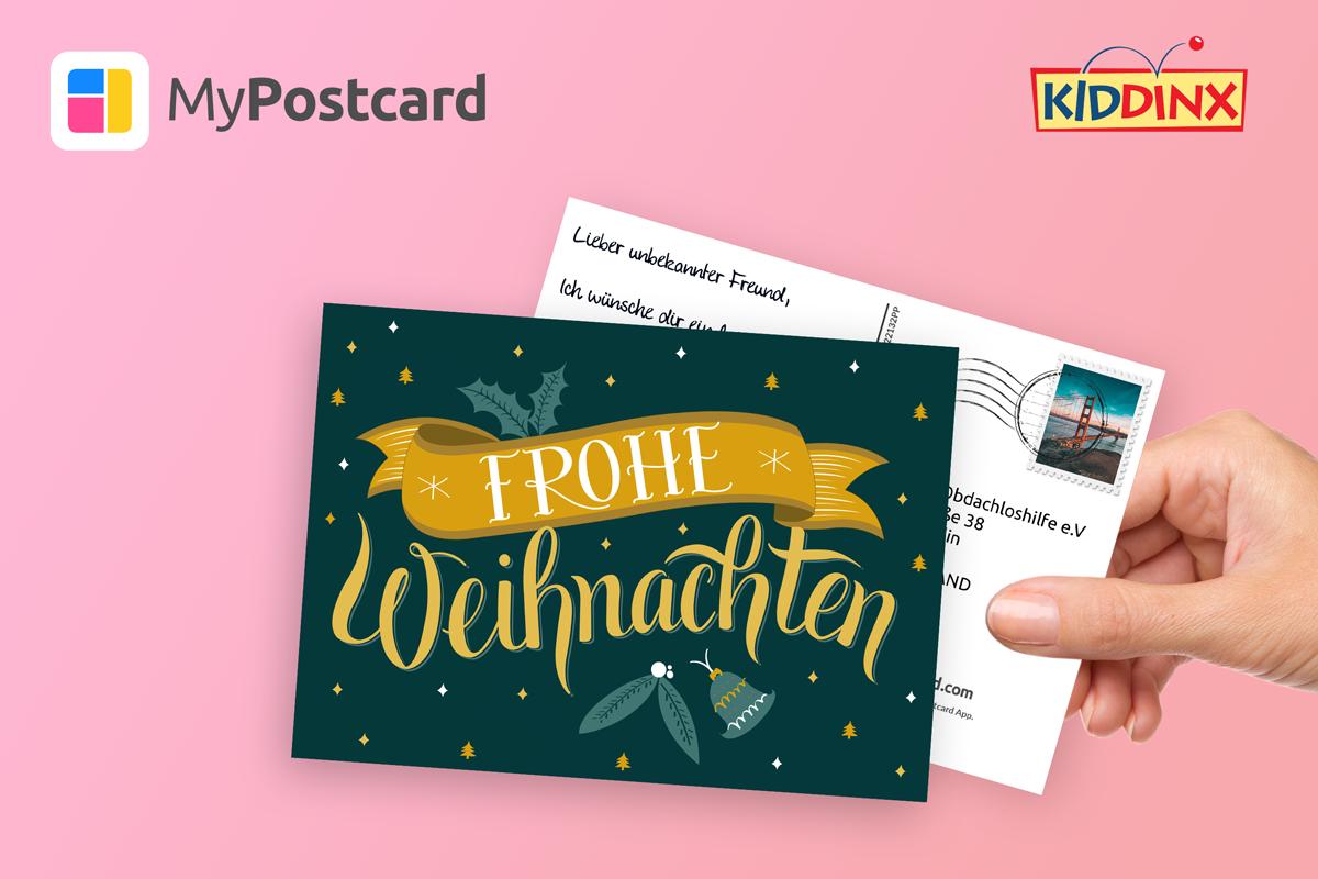 Hand Postkarte
