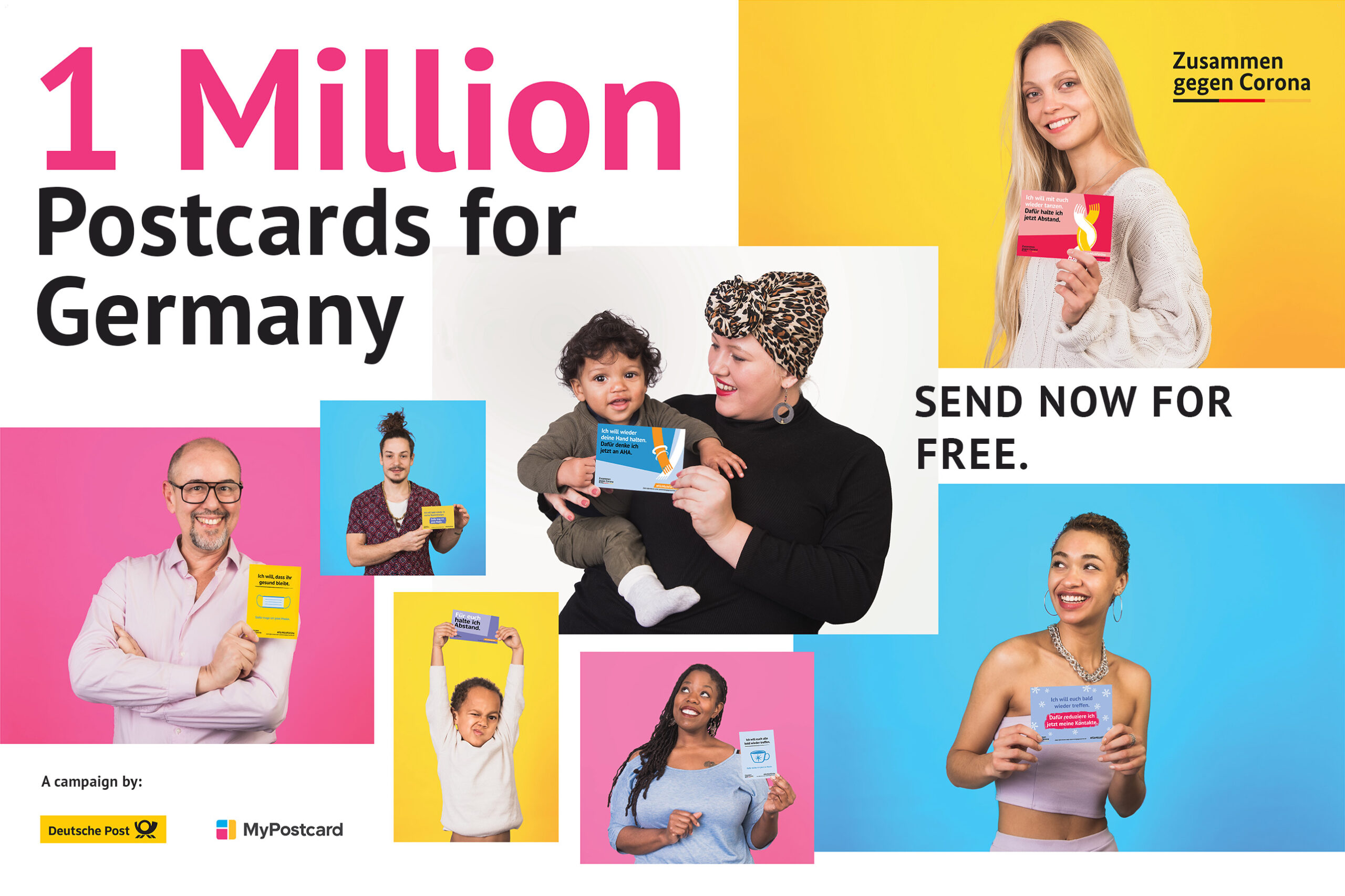 people 1 million postcards