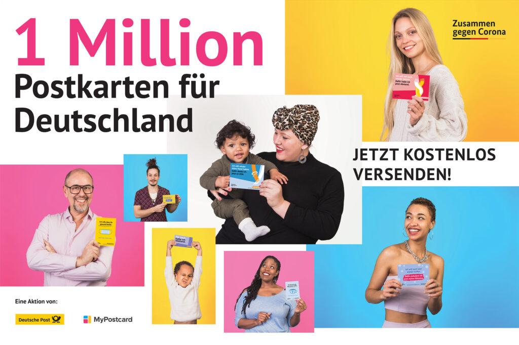 Menschen 1 Million Postkarten