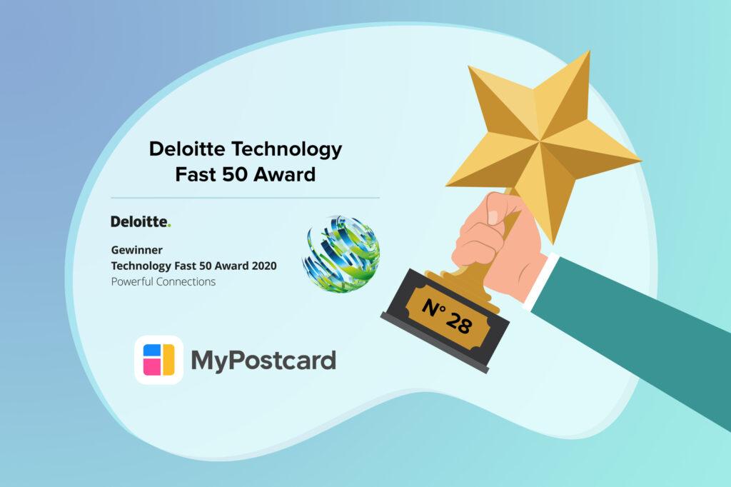 MyPostcard Deloitte Fast 50 Award 2020